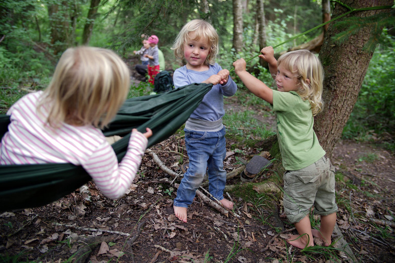 Building a Hammock: Children play in the Forest