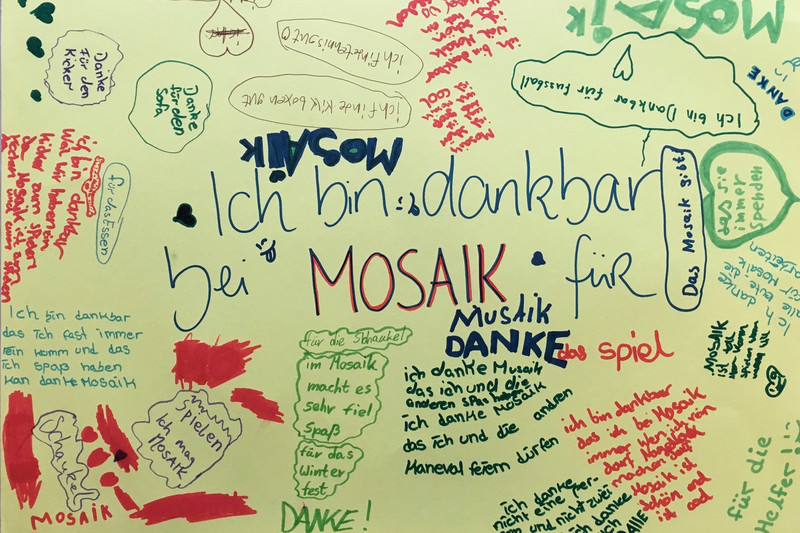 Personalized poster by children of the meeting place