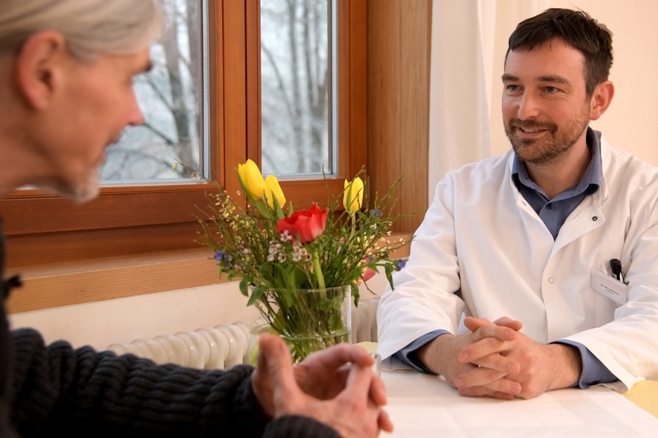 Doctor in patient talk