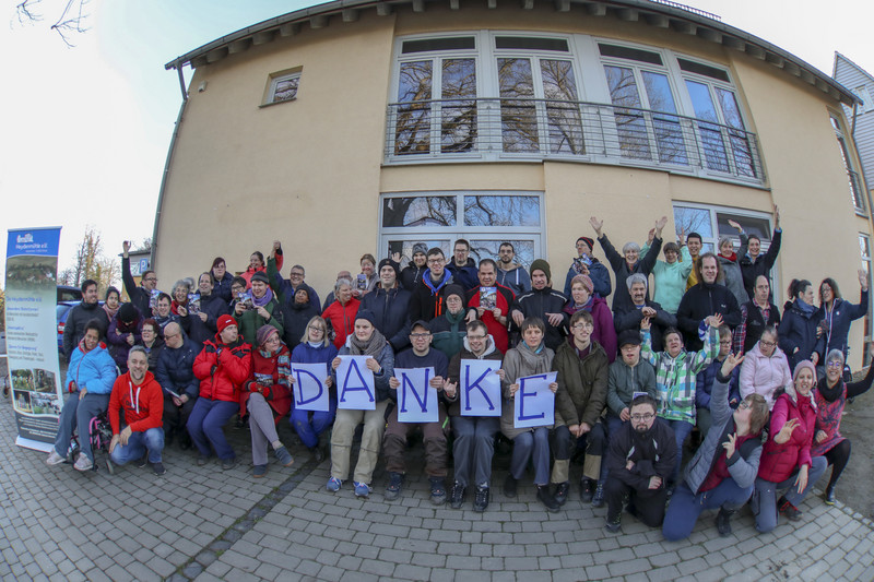 "Heydenmuehlen Team says ""thank you"" for the fundraising campaign with a group photo"